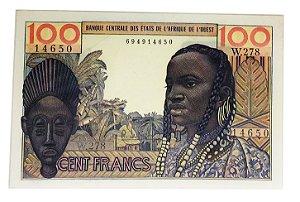 Cédula Antiga dos Estados do Leste Africano 100 Francs ND(1959)