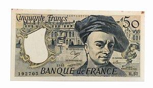 Cédula Antiga da França 50 Francs 1989
