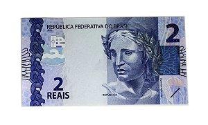 Cédula Antiga do Brasil 2 Reais 2015