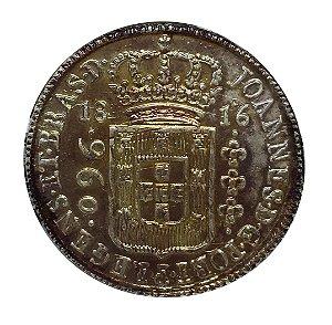 Moeda Antiga do Brasil 960 Réis 1816B Com Dupla Batida