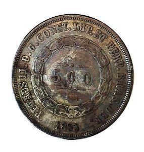 Moeda Antiga do Brasil 500 Réis 1855