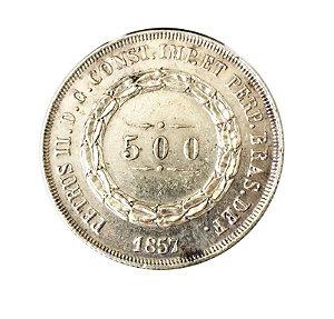 Moeda Antiga do Brasil 500 Réis 1857