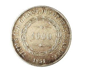 Moeda Antiga do Brasil 1000 Réis 1851