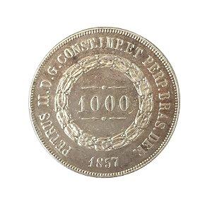 Moeda Antiga do Brasil 1000 Réis 1857