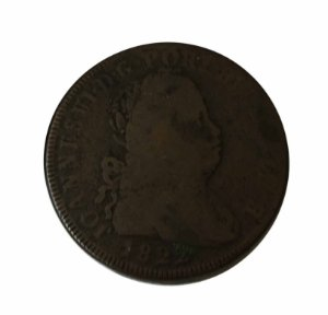 Moeda Antiga de Portugal 40 Réis 1822 Pataco