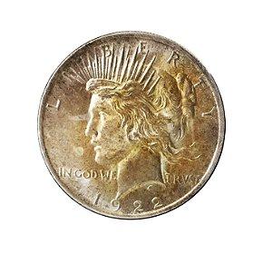 Moeda Antiga dos Estados Unidos Peace Dollar 1922