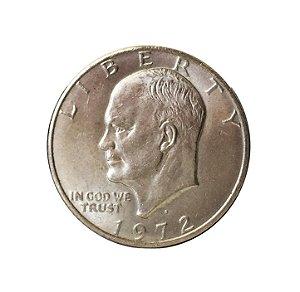 Moeda Antiga dos Estados Unidos $1 Eisenhower Dollar 1972