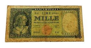 Cédula Antiga da Itália 1000 Lire 1947