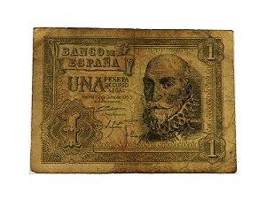 Cédula Antiga da Espanha 1 Peseta 1953