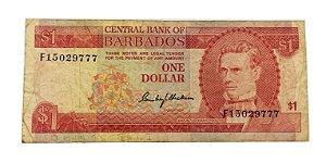 Cédula Antiga de Barbados $1 ND(1973)