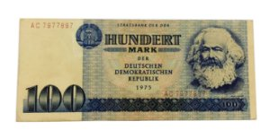 Cédula Antiga da Alemanha 100 Mark 1975