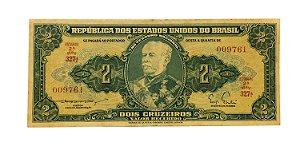 Cédula Antiga do Brasil 2 Cruzeiros