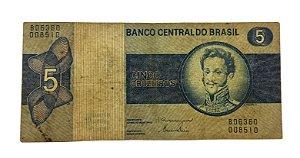 Cédula Antiga do Brasil 5 Cruzeiros 1979