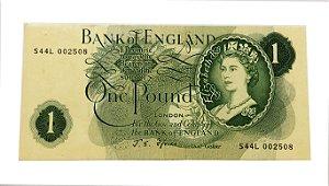 Cédula Antiga da Inglaterra 1 Pound ND(1966-70)