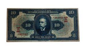 Cédula Antiga do Brasil 10 000 Réis 1936 Estampa 17ª Série 206ª
