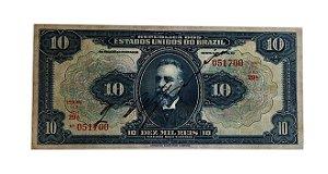 Cédula Antiga do Brasil 10 000 Réis 1924 Estampa 17ª Série 29ª