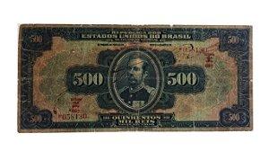 Cédula Antiga do Brasil 500 000 Réis 1936 Estampa 15ª Série 60ª