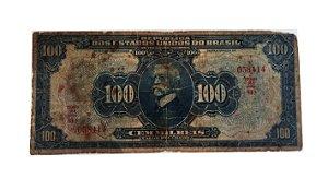 Cédula Antiga do Brasil 100 000 Réis 1942 Estampa 16ª Série 84ª
