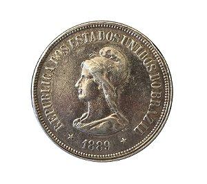 Moeda Antiga do Brasil 1000 Réis 1889