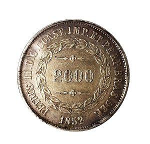 Moeda Antiga do Brasil 2000 Réis 1852