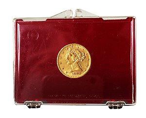 Moeda Antiga dos Estados Unidos $5 1881 S