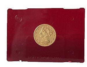 Moeda Antiga dos Estados Unidos $5 1903 S