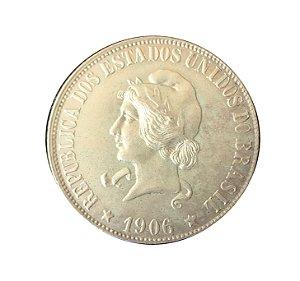 Moeda Antiga do Brasil 2000 Réis 1906