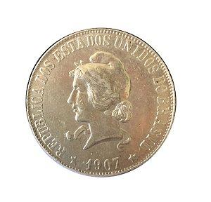 Moeda Antiga do Brasil 2000 Réis 1907