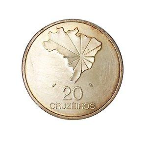 Moeda Antiga do Brasil 20 Cruzeiros 1972 - Sesquicentenário da Independência do Brasil