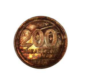 Moeda Antiga do Brasil 200 Cruzados Novos 1989