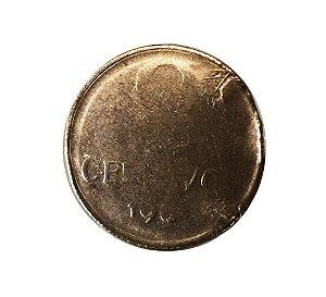 Moeda Antiga do Brasil 2 Centavos de Cruzeiro 1969 - Defeito de cunho