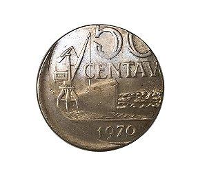 Moeda Antiga do Brasil 50 Centavos de Cruzeiro 1970 cunhada em disco de 10