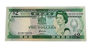 Cédula Antiga de Fiji $2 1995