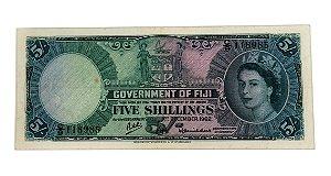 Cédula Antiga de Fiji 5 Shillings 1962