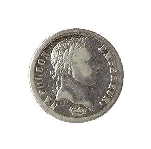 Moeda Antiga da França Demi Franc 1808