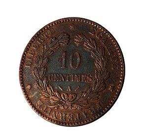 Moeda Antiga da França 10 Centimes 1884 A