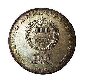 Moeda Antiga da Hungria 100 Forint 1974