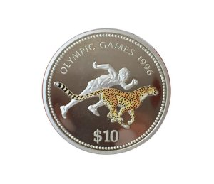 Moeda Antiga da Namíbia $10 1996 - Jogos Olímpicos