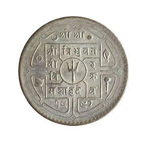 Moeda Antiga do Nepal Rupee 1992 (1935)