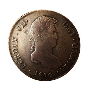 Moeda Antiga do Peru 8 Reales 1814