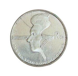 Moeda Antiga da Polônia 100 Zlotych 1974 - Marie Sklodowska-Curie