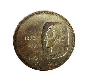 Moeda Antiga da Venezuela 10 Bolivares 1973