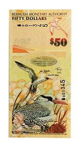 Cédula Antiga da Bermuda $50 2009
