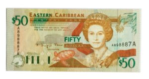 Cédula Antiga de Antígua $50 ND(1994)