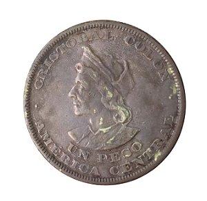 Moeda Antiga de El Salvador Peso (Colon) 1893