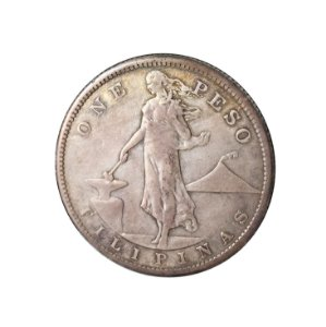 Moeda Antiga das Filipinas One Peso 1907 S