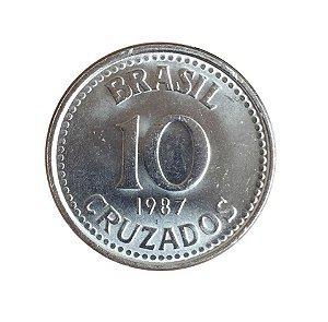 Moeda Antiga do Brasil 10 Cruzados 1987