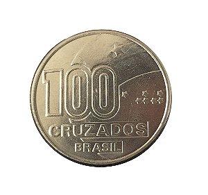 Moeda Antiga do Brasil 100 Cruzados 1988- PAI - Série Comemorativa do Centenário da Abolição da Escravatura
