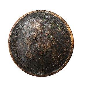 Moeda Antiga do Brasil 40 Réis 1878