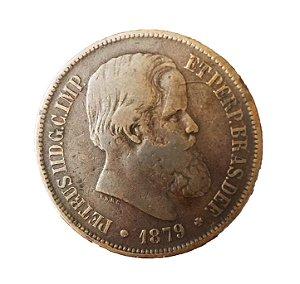 Moeda Antiga do Brasil 40 Réis 1879